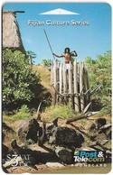Fiji - Fijian Warrior Defending Fort, 07FJB (Ø Crossed), 1994, Used - Fiji