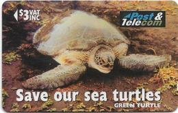 Fiji - Green Turtle - 17FJB - 1996, 54.700ex, Used - Fiji