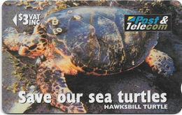 Fiji - Hawksbill Turtle Taku - 17FIB - 1996, 55.000ex, Used - Fiji