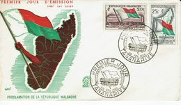 MADAGASCAR-TANANARIVE-PROCLAMATION DE LA REPUBLIQUE MALGACHE Fdc - Madagascar (1960-...)