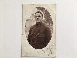 Foto AK Cadet Henri Croix De Guerre 8 Kriegsgefangenesendung Konigsbruck Photo Kofahl - War 1914-18