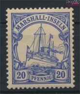Marshall-Inseln (Dt. Kol.) 16 Postfrisch 1901 Schiff Kaiseryacht Hohenzollern (9290662 - Kolonie: Marshall-Inseln