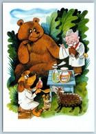 Veterinarian Doctor Aybolit Doctor Dolittle Chukovsky Bear NEW Russia Postcard - Animali
