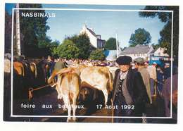 NASBINALS  FOIRE AUX BESTIAUX EN 1992 RARE - France