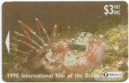 Fiji - Scorpaenid Fish - 24FIB - 1998, 95.000ex, Used - Fiji