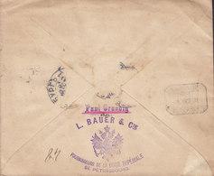 Russia L. BAUER & Cie Fournisseurs Cour Impériale Postal Stationery Ganzsache Registered ST. PETERSBOURG 1891 BARCELONA - 1857-1916 Imperium