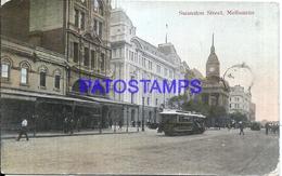 108789 AUSTRALIA MELBOURNE SWANSTON STREET & TRAMWAY BREAK POSTAL POSTCARD - Australie