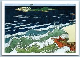 Flight Of The Mosquito Sailing Boat Sea Pushkin Tale By Bilibin Сказки Postcard - Europe