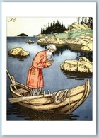Tale Of The Fisherman And Gold Fish Pushkin Tale By Bilibin Сказки Postcard - Europe