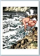 Tale Of The Fisherman And Gold Fish Sea Pushkin Tale By Bilibin Сказки Postcard - Europe
