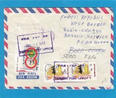 LETTRE ENVOYÉE DE TESSENAI(ÉRYTHRÉE) PAR UN SOLDAT POUR RADIO-COLOGNE(KÖLN). - Ethiopie
