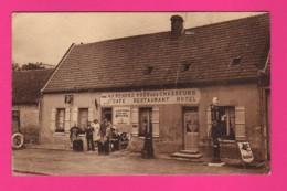 CPA  (Ref: Z 1309) CUVILLY (60 OISE) Café Restaurant Chez Julo Relai Routier Vieux Poste Essence MOBIL OIL MOTUL - Autres Communes