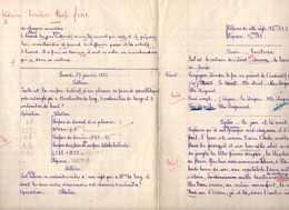 Cahier De Devoirs D'écolier Octobre 1935 à Février 1936. - Diplômes & Bulletins Scolaires