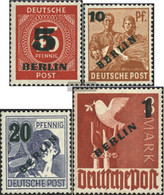 Berlin (West) 64-67 (complete Issue) Unmounted Mint / Never Hinged 1949 Green Printing - Unused Stamps