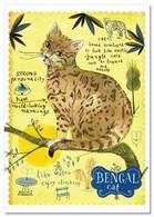 BENGAL CAT ART By Marianna Sztyma Funny Russian Modern Postcard - Animals