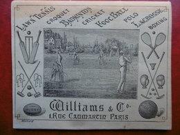 SPORT TENNIS CROQUET BADMINTON CRICKET FOOTBALL POLO LACROSSE BOXING WILLIAMS & Cie A PARIS 1902 - Livres, BD, Revues