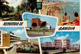 Gandia Valencia 5 Vues :  Plaza De Cristo Rey  Playa  Iglesia  Hotel Bayren  Colonia Ducal ( Fille - Valencia