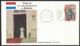 YN182     Nederland 1985 Visita Di S.S. Giovanni Paolo II  In Benelux - Hertogenbosch  FDC Roma - Papi