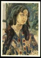"BORISOV-MUSATOV ""Portrait Of S. Stebleva"" Woman Russian Soviet Postcard - Illustratori & Fotografie"