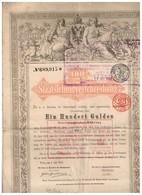 Titre Ancien - Staatsvschuldverschreibung -Obligation Autrichienne - Titre De 1868 - Chemin De Fer & Tramway