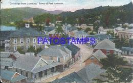 108793 CARIBBEAN JAMAICA TOWN OF PORT ANTONIO VIEW PARTIAL BREAK POSTAL POSTCARD - Cartes Postales