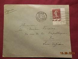Lettre De 1931 A Destination De Eu Avec Coin Daté - France