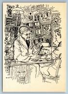 "RONALD SEARLE ""London Tattoo Artist"" VINTAGE Rare Russian Soviet Postcard - Non Classés"
