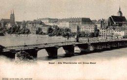 BASEL ALTE RHEINBRUCKEMIT GROSS BASEL - BS Bâle-Ville