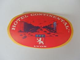 Hôtel Continental De Lyon (69). - Etiquettes D'hotels