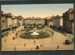 CPA - LIVORNO - Piazza Vittorio Emanuele, Animé - Tramways - Livorno