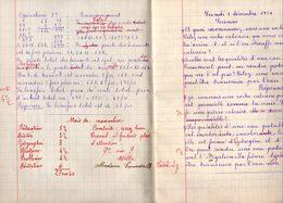 Cahier De Devoirs D'écolier Novembre 1934 à Juin 1935. - Diplômes & Bulletins Scolaires