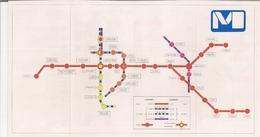 METRO DE BRUXELLES - BRUSSELSE METRO - Ligne Métro N° 1 Et Prémétros N°s 2, 3 Et 5 (Services Et Commodités) - 8 Mai 1981 - Europe