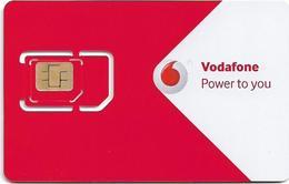 Greece - Vodafone (Red & White 'Vodafone International') GSM SIM, Mint - Greece