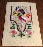 Silk Postcard ~ Card ~ Victorious New Year - War 1914-18