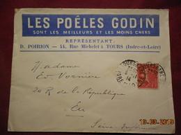 Lettre De 1914 A Destination De Eu Avec Timbre Surchargé Croix Rouge No 146 - France