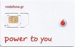 Greece - Vodafone (White 'Vodafone CU') GSM SIM, Mint - Greece