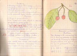 Cahier De Devoirs D'écolier Juin 1935 - Juillet 1935 Puis Septembre 1935. - Diploma & School Reports