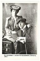 Feodor Chaliapin & Wife Russian Opera Singer RARE Russian Real Photo - Photos