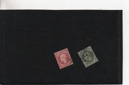 Timbres.2 Timbres Un Empire Français Lauré Et Un Empire Franc 80 C Et 1 C - 1863-1870 Napoleon III With Laurels