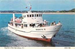 AIGRETTE V. Port Bail-Jersey - Compagnie De La Côte Des Isles, Gare Maritime, Port Bail. - Bateaux