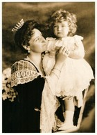 Empress Alexandra And Tsesarevich Alexis Russian Romanov Royalty Postcard - Royal Families