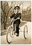 Tsesarevich Alexis On The Bike Russian Romanov Royalty Postcard - Royal Families