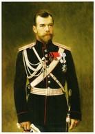 Portrait Of Emperor Nicholas II Russian Romanov Royalty Postcard - Royal Families