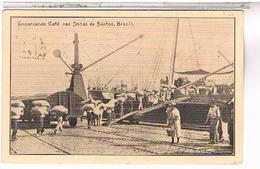 BRESIL RIO DE JANEIRO   EMBARCANDON CAFE NAS DOCA DE SANTOS   1925 US70 - Brésil