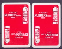 Belgie - Speelkaarten - ** 2 Jokers - Stokerij Rubens - Zele ** - Cartes à Jouer Classiques