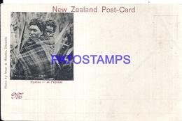 108812 NEW ZEELAND NGAHUI AT PAPAKAI COSTUMES NATIVE BREAK NO POSTAL POSTCARD - Nouvelle-Zélande