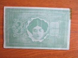 IMPERIAL  RUSSIA . PAPER MONEY 3 ROUBLES , POLISH OPERA SINGER KAWECKA   ,  OLD POSTCARD, 0 - Monnaies (représentations)