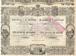 Titre Ancien - Compagnie Madrilène D'Eclairage Et De Chauffage Par Le Gaz - Titre De 1881 - Déco - Electricité & Gaz