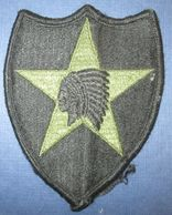 """Patch US C.1960/70 """"2nd Infantry Division"""" - Ecussons Tissu"""