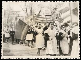 1980s SOVIET PIONEER On Parade Flag School Class USSR Original VTG Photo - Photographs